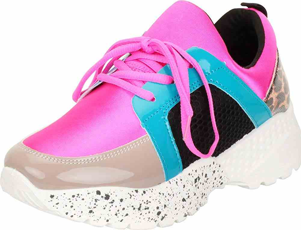 Women's Retro 90s Ugly Dad Colorblock Chunky Platform Fashion Sneaker