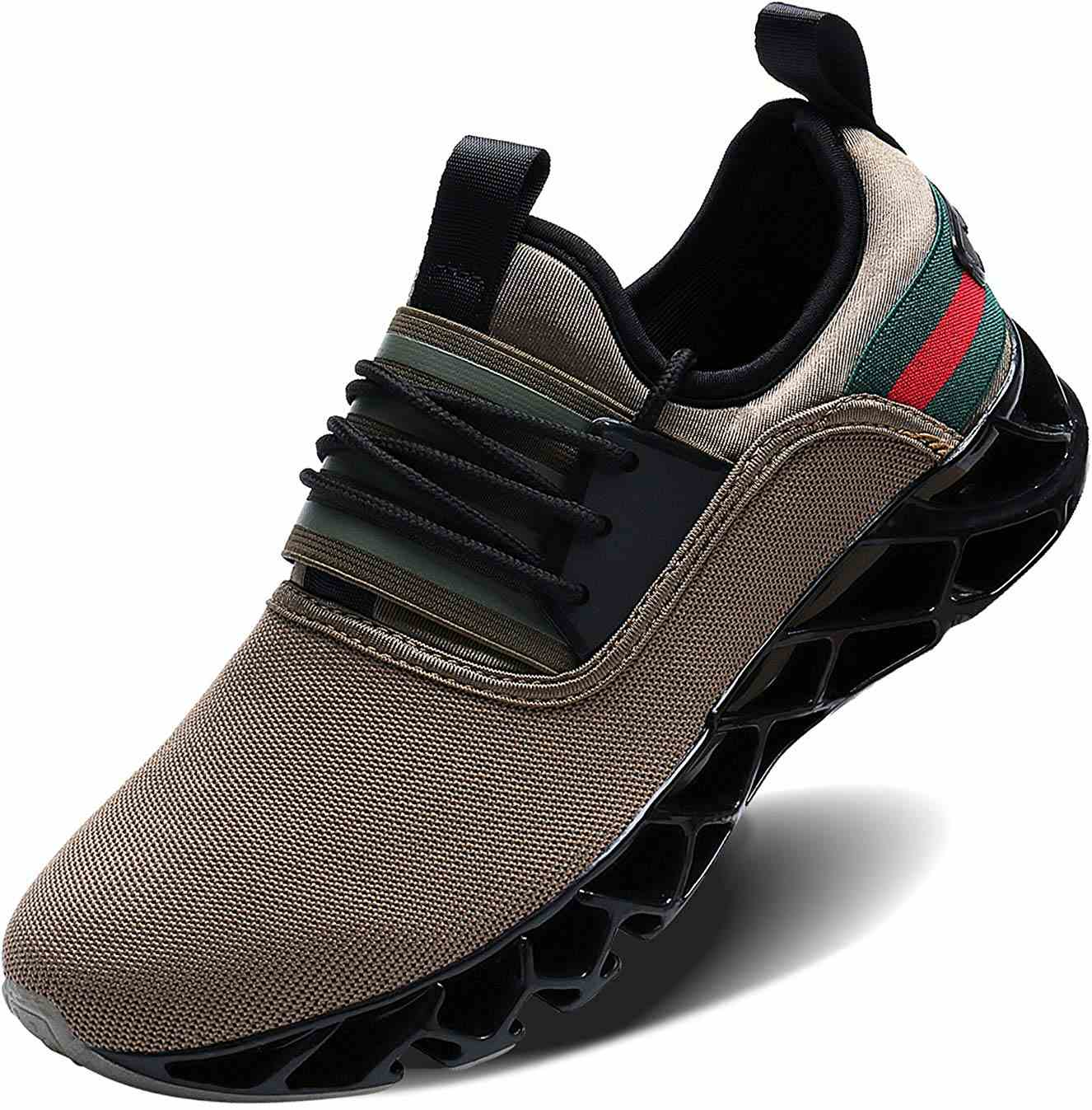 Mens Tennis Shoes Sneakers for Mens Blade Slip On Walking Running Shoes