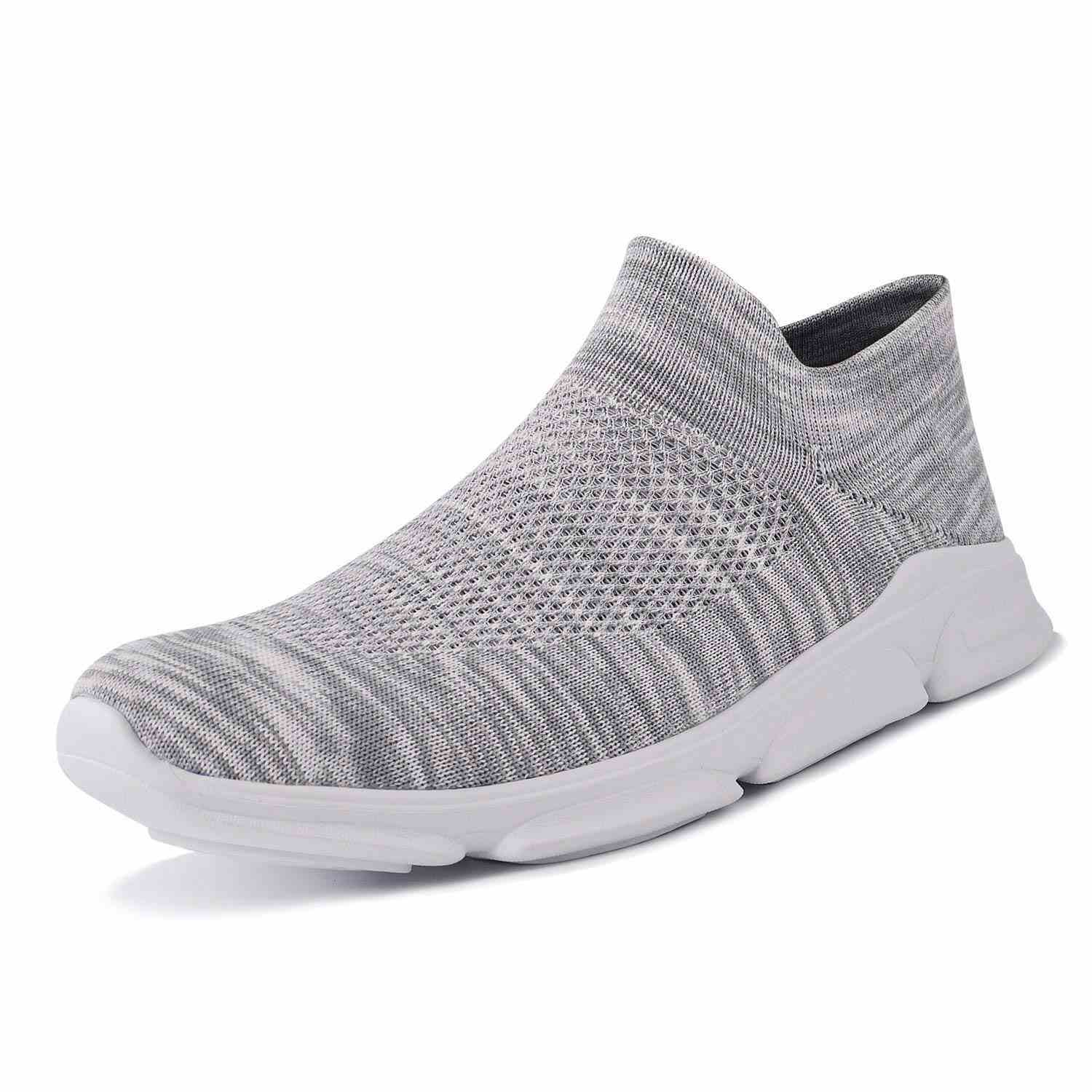 Mens and Womens Walking Shoes Lightweight Mesh Slip-on Running Sneakers