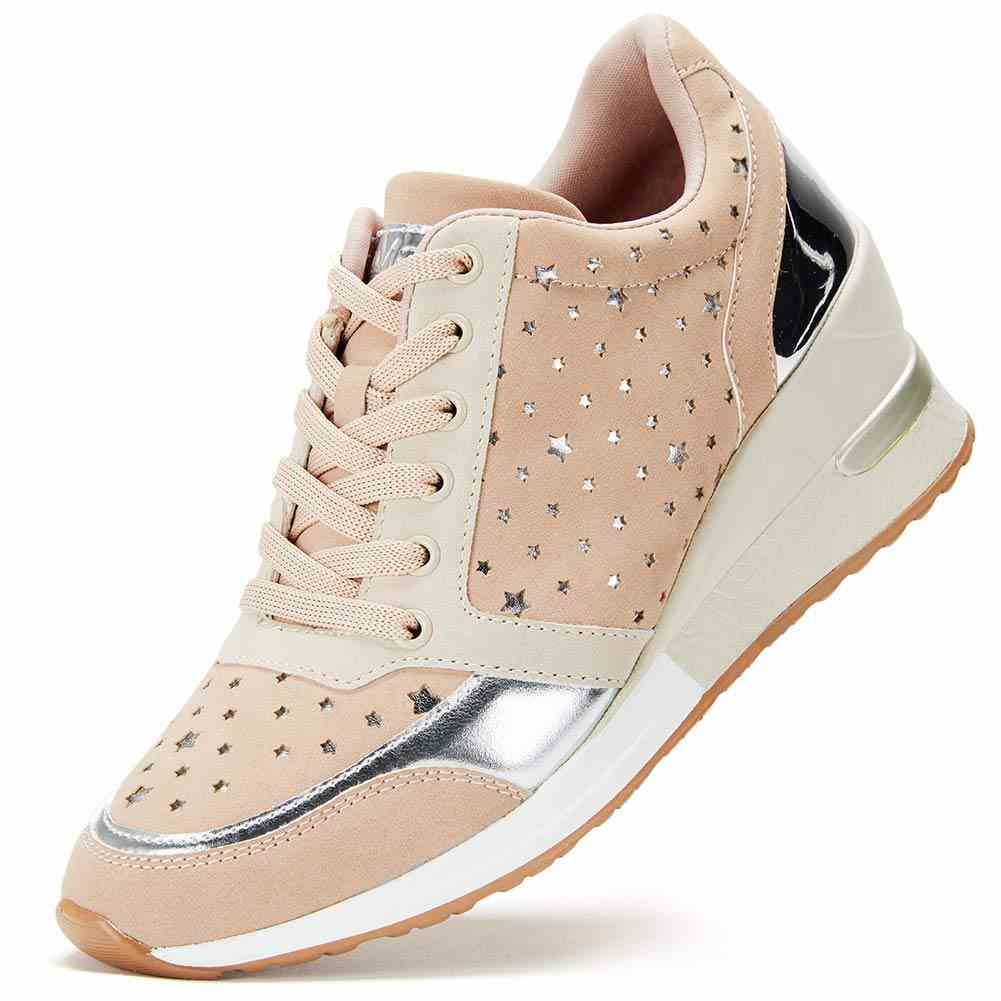 Womens Fashion Hidden Wedge Sneakers