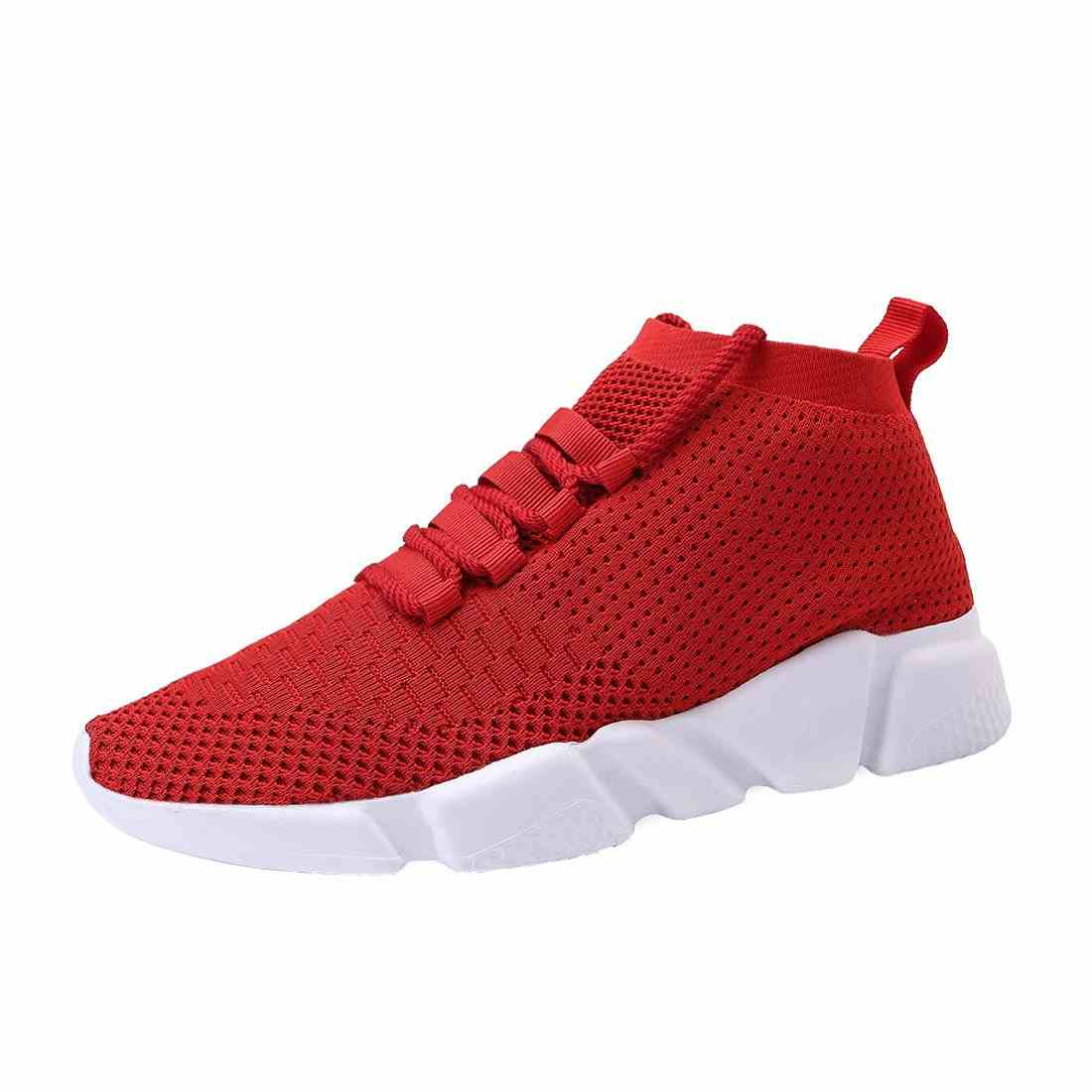 Mens Casual Athletic Sneakers Knit Running Shoes Tennis Shoe for Men